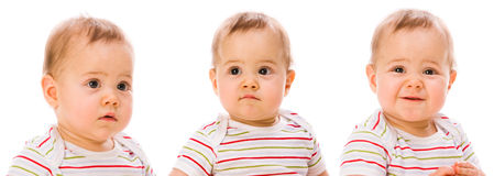 Ritratti di Babys Fotografie Stock Libere da Diritti