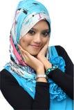 Ritratti di giovane donna musulmana allegra Fotografia Stock Libera da Diritti