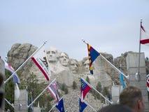 Ritratti di presidenti nella roccia Fotografia Stock