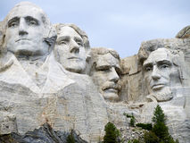 Ritratti di presidenti nella roccia Fotografie Stock Libere da Diritti