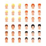 Ritratti differenti stabiliti dei giovani di stile di capelli illustrazione di stock