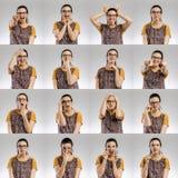 Ritratti multipli femminili immagini stock libere da diritti