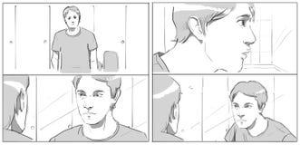 Ritratti per lo storyboards fotografie stock libere da diritti