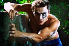 Ritrattistica del modello maschio bello duro Fotografia Stock