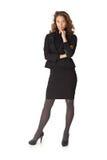 Ritratto 100% della donna di affari attraente Immagini Stock