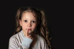 Ritratto 5 anni di ragazza Fotografia Stock