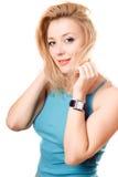 Ritratto abbastanza di un blonde allegro Immagine Stock