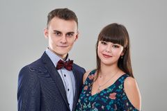 Ritratto adolescente delle coppie Fotografia Stock