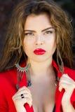 Ritratto affascinante della donna Fotografia Stock