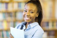 Ritratto africano dello studente di college Fotografia Stock Libera da Diritti