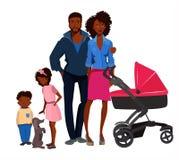 Ritratto afroamericano della famiglia Immagine Stock Libera da Diritti