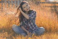 Ritratto americano di una giovane donna Immagine Stock