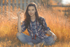 Ritratto americano di una giovane donna Fotografia Stock Libera da Diritti