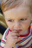 Ritratto-anno-vecchio bambino Immagini Stock