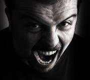 Ritratto arrabbiato della persona Fotografia Stock Libera da Diritti