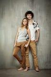Ritratto artistico di giovane coppia Immagine Stock