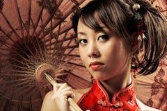 Ritratto asiatico Fotografia Stock