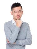 Ritratto asiatico dell'uomo d'affari immagini stock libere da diritti