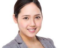 Ritratto asiatico della donna di affari Fotografia Stock Libera da Diritti