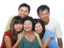 Ritratto asiatico della famiglia fotografia stock