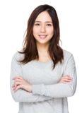 Ritratto asiatico della giovane donna fotografia stock