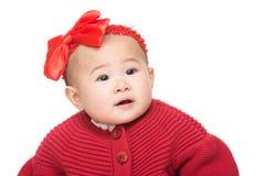 Ritratto asiatico della neonata immagini stock libere da diritti