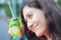 Ritratto asiatico della ragazza di felicità Immagini Stock Libere da Diritti