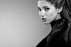 Ritratto, in bianco e nero Fotografia Stock Libera da Diritti