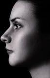 Ritratto in bianco e nero Fotografia Stock Libera da Diritti