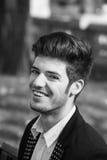 Ritratto in bianco e nero dell'uomo Fotografia Stock Libera da Diritti