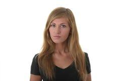 Ritratto biondo della giovane donna (allievo) Fotografie Stock