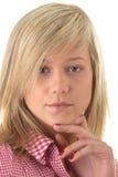 Ritratto biondo teenager dell'allievo Fotografia Stock Libera da Diritti