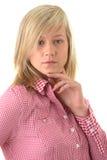 Ritratto biondo teenager dell'allievo Immagine Stock