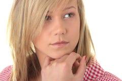 Ritratto biondo teenager dell'allievo Fotografie Stock