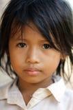 Ritratto cambogiano della bambina Fotografia Stock