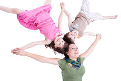Ritratto casuale di una famiglia in buona salute e attraente Fotografia Stock