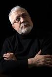 Ritratto classico di un uomo su un background_ nero Fotografia Stock Libera da Diritti