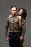 Ritratto comico di giovani coppie Fotografia Stock Libera da Diritti