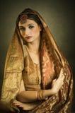 Ritratto con il costume tradizionale Fotografia Stock