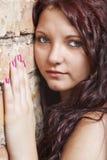Ritratto con il fronte sorpreso ed impaurito Fotografie Stock