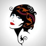Ritratto creativo di modo di un modello royalty illustrazione gratis
