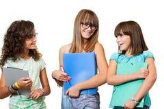 Ritratto degli allievi adolescenti con gli archivi. Immagine Stock Libera da Diritti