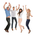 Ritratto degli amici felici immagini stock libere da diritti