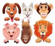 Ritratto degli animali illustrazione vettoriale
