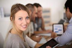 Ritratto degli apprendisti di affari sulla riunione Fotografia Stock Libera da Diritti