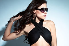 Ritratto degli occhiali da sole Fotografia Stock