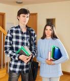 Ritratto degli studenti seri Immagini Stock