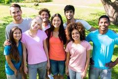 Ritratto degli studenti universitari felici Fotografie Stock Libere da Diritti
