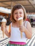 Ritratto dei 3 anni felici di neonata Immagine Stock Libera da Diritti
