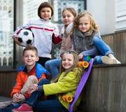 Ritratto dei bambini della scuola elementare Fotografie Stock Libere da Diritti